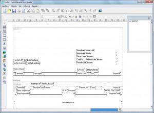 Completo editor visual de informes
